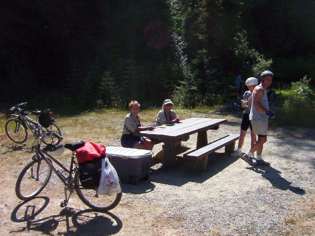 Picnic Tables Along the Way